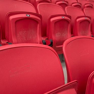asientos rojos